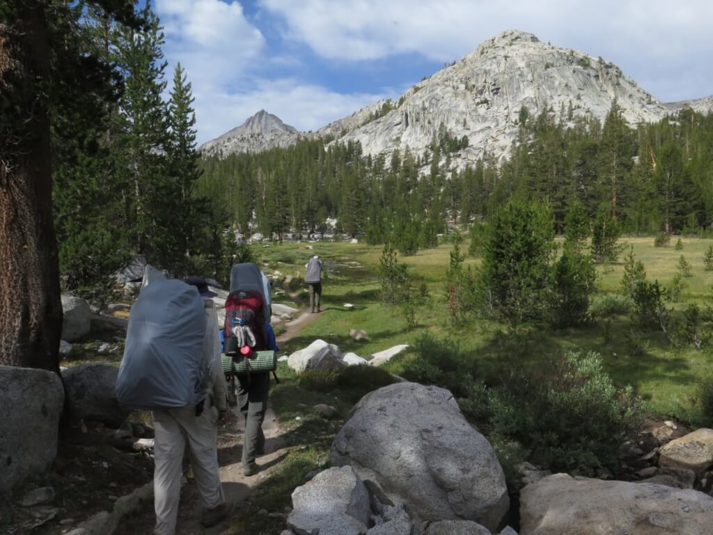 tips for hiking the john muir trail - hikers on trail