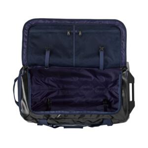 patagonia travel bags - wheeled duffel bag open