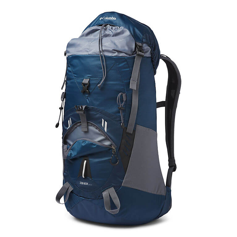 Columbia Outdoor Adventure Backpack Review - Pack with Open Zippers