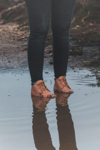 Symptoms of Trench Foot - wet feet photo