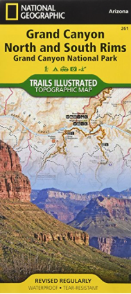 hiking trails in the grand canyon - map