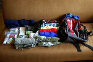 5 Backpack Packing Tips - fill extra space with compressible items