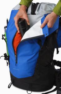 arcteryx bora 50 backpack - kangaroo pocket