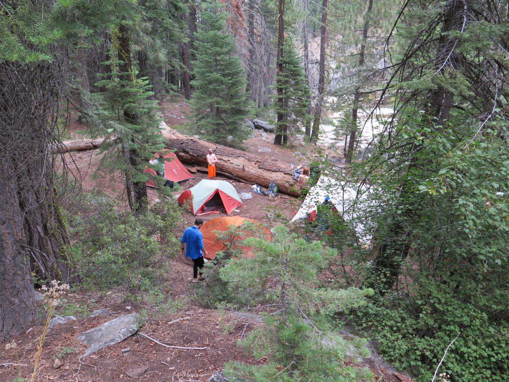how to choose a campsite - camp 1