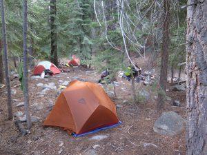 how to choose a campsite - camp 2