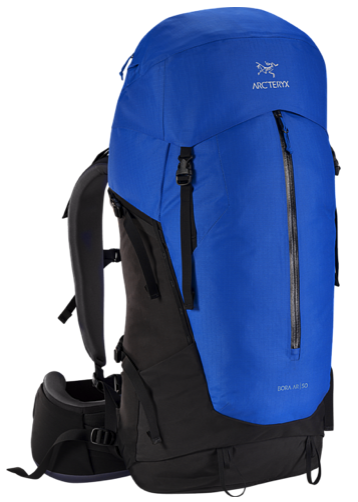 the arcteryx bora 50 backpack - front