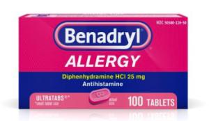 backpacking first aid kit list - antihistamine