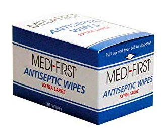backpacking first aid kit list - antiseptic wipes