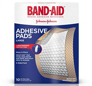 backpacking first aid kit list - bandages