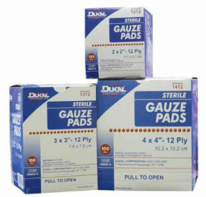 backpacking first aid kit list - gauze pads