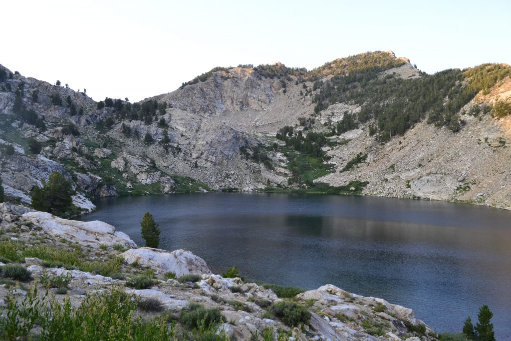 hiking the ruby mountains - Liberty Lake at Sunset