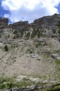 hiking the ruby mountains - Pride Rock Pass from Thomas Canyon