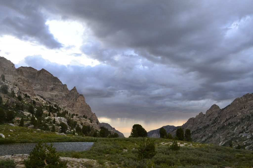 hiking the ruby mountains - View Down Right Form Canyon from Goat Lake