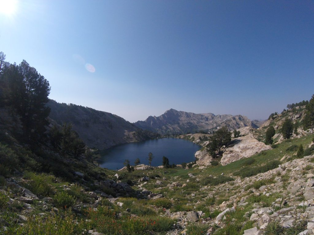 hiking the ruby mountains - Liberty Lake from Above on the Ruby Crest Trail