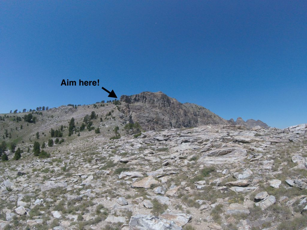 hiking the ruby mountains - view of ridgeline from goat pass