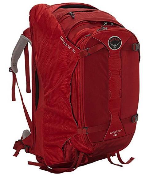three discounted osprey backpacks - wayfarer 70