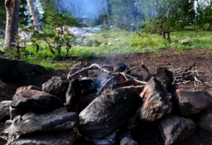 guide to responsible backpacking - fire impact