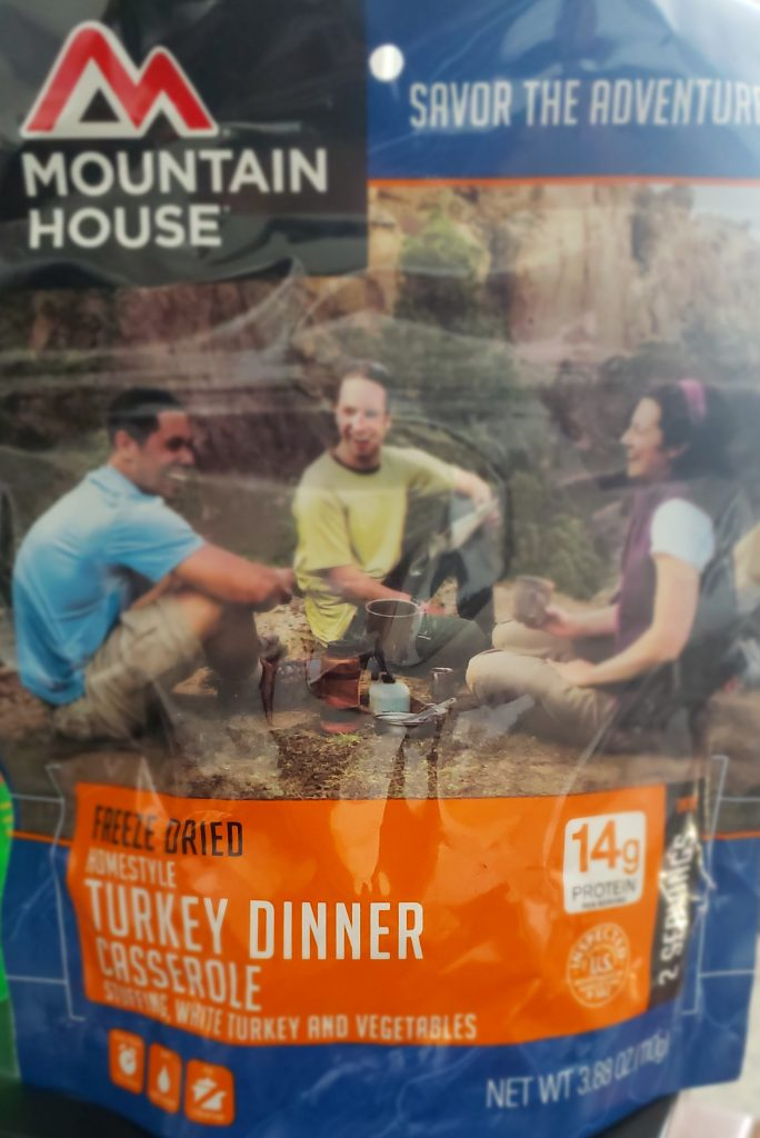 mountain house meal reviews - turkey dinner front