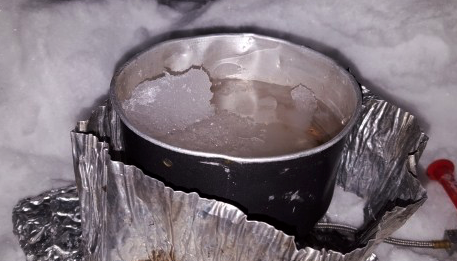 how to get clean water in the wild - melt snow