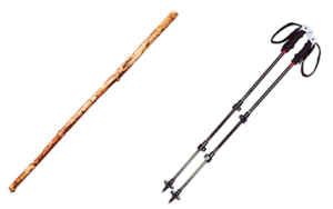 hiking pole tips - poles vs staff