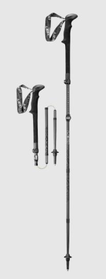 best leki trekking poles - micro vario black carbon