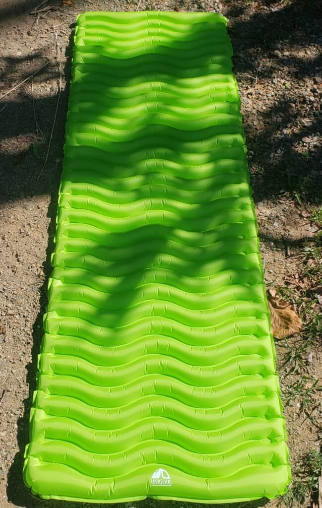unigear product review - sleeping pad inflated