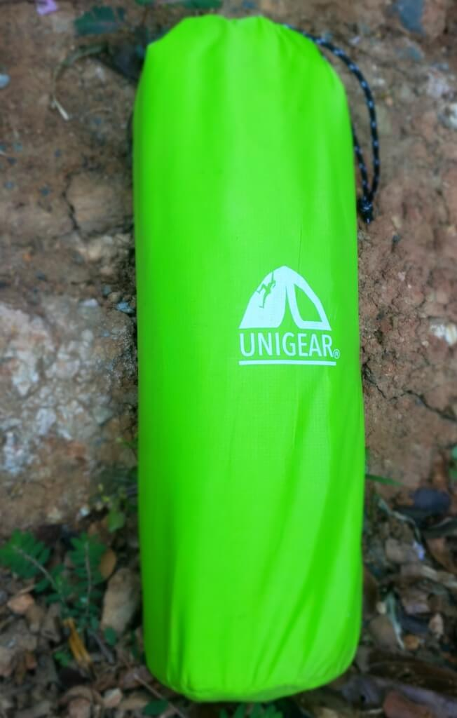 unigear product review - sleeping pad rolled up