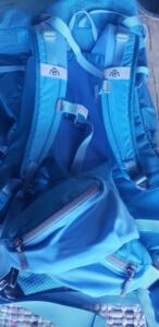 my trail company backpack light 70 - shoulder straps and waist belt