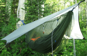 hammock camping gear list - bug net and rainfly