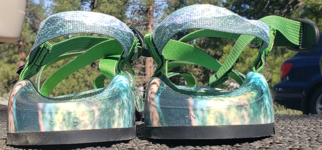 custom chacos print shop - heel strap