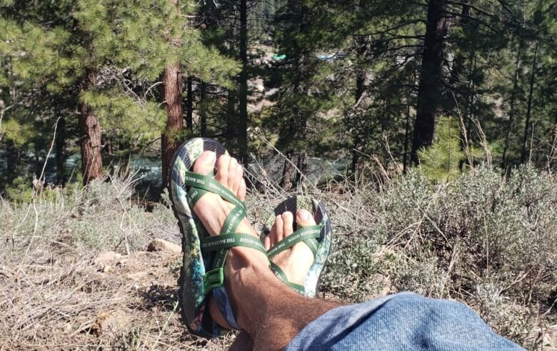 custom chacos print shop - main strap lounging