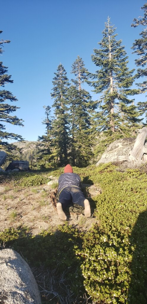 health benefits of backpacking - slowing down and relaxing