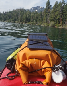 Larq Self Cleaning Water Bottle - in action on kayak