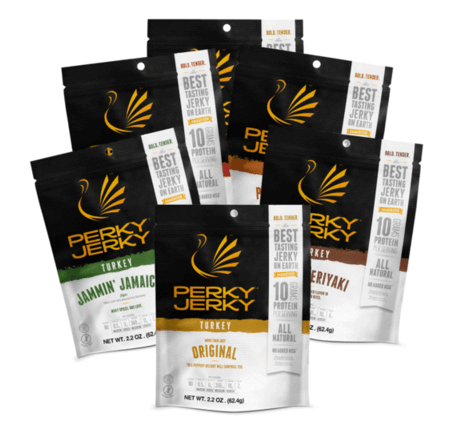 perky jerky best tasting jerky on earth - beef and turkey jerky sampler
