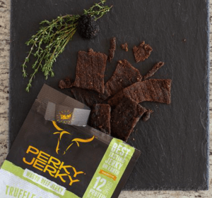 perky jerky best tasting jerky on earth - truffle and thyme wagyu beef jerky