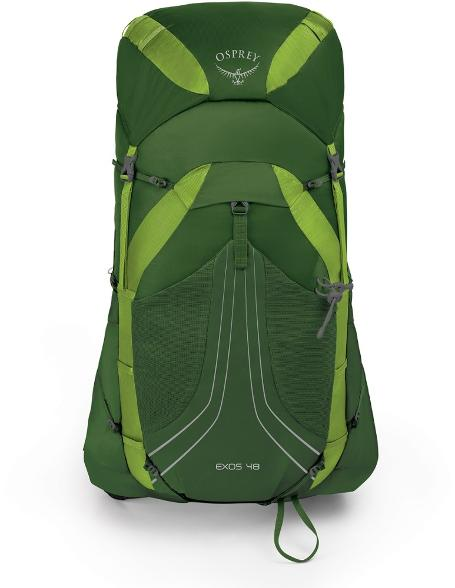 osprey exos 48 backpack review - front view