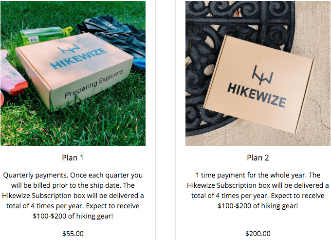 Best Monthly Subscription Boxes For Men - Hikewize Pricing