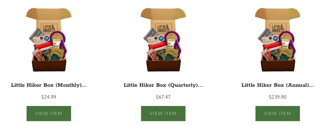 Best Monthly Subscription Boxes For Men - Little Hiker Pricing