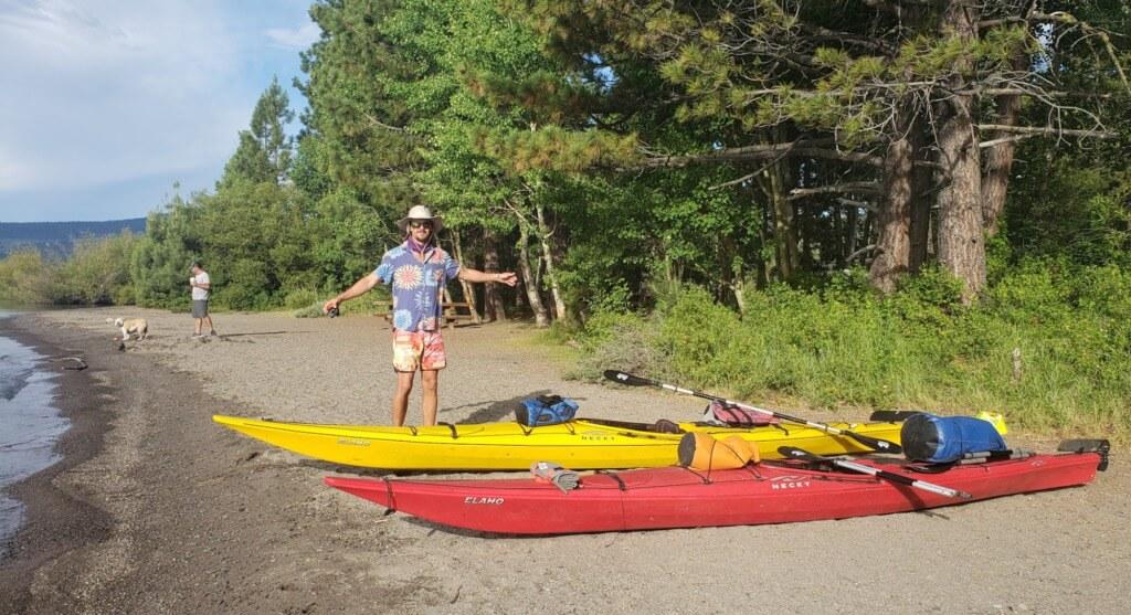 Kayaking Lake Tahoe - day one lake forest to meeks bay