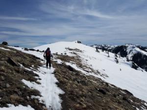 School of Stone - skiing above Ward Canyon