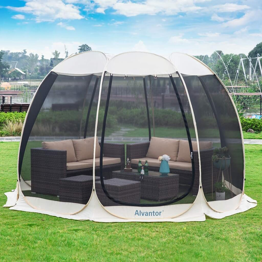 Backyard Camping Ideas For Kids - alvantor screen house