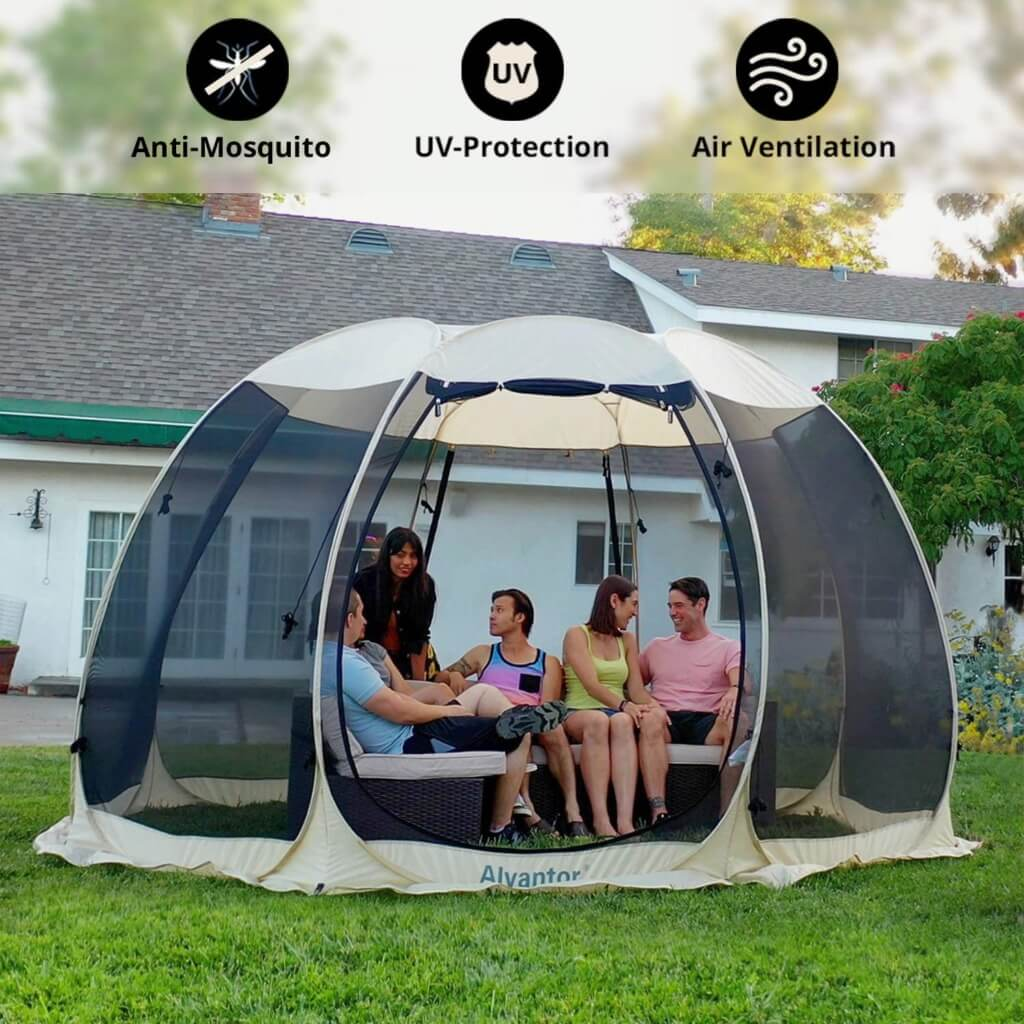 Backyard Camping Ideas For Kids - alvantor screen house tent 2