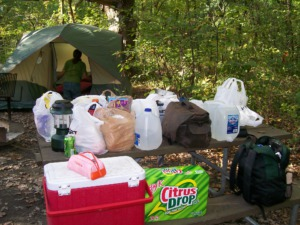 Backyard Camping Ideas For Kids - gather your supplies Photo by mystsong2000 via Flickr