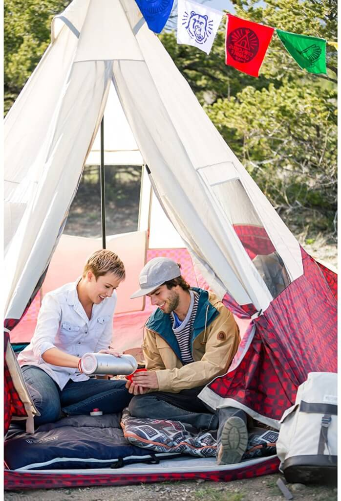 Backyard Camping Ideas For Kids - wenzel shenanigan teepee tent 2