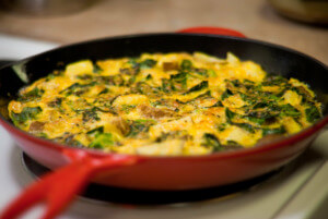 10 Healthy Camping Food Recipes - veggie frittata PC Jim Nelson via Flickr