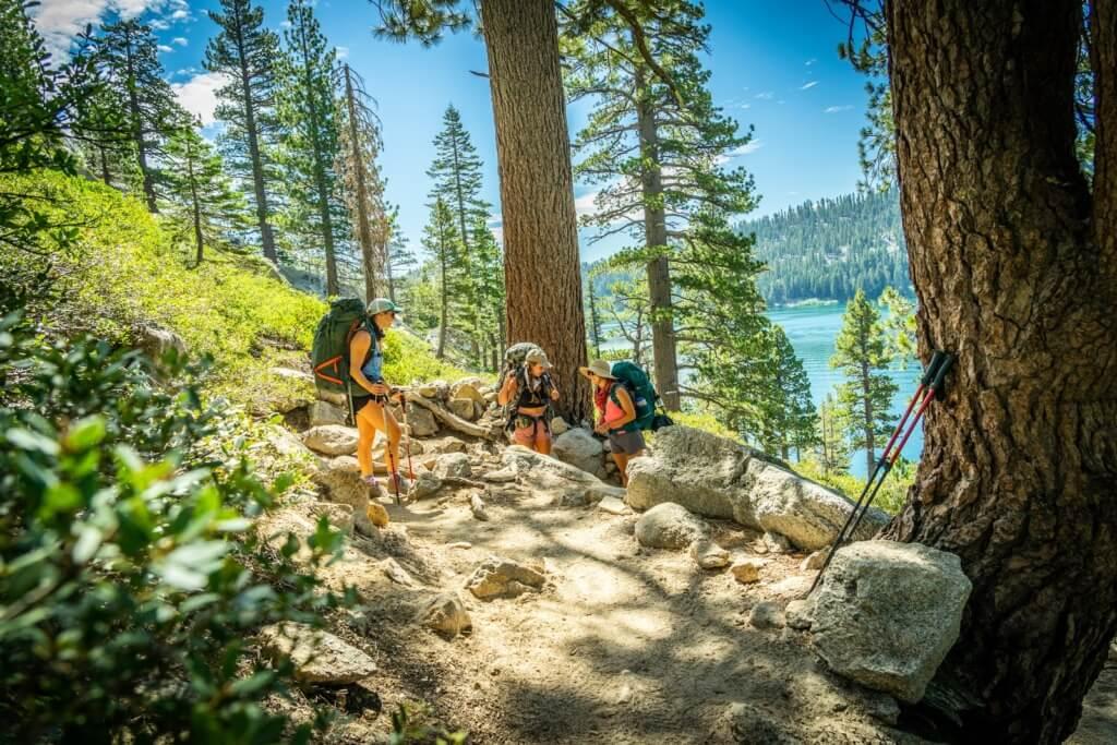 Deso Trip Report - The hike along Lower Echo Lake. PC Katey Hamill