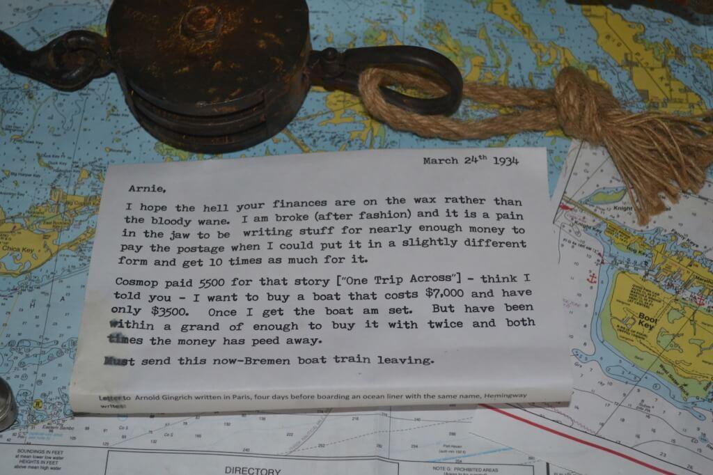 Hemingway House Letter