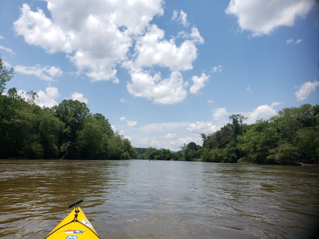 Kayaking on the French Broad River in Asheville