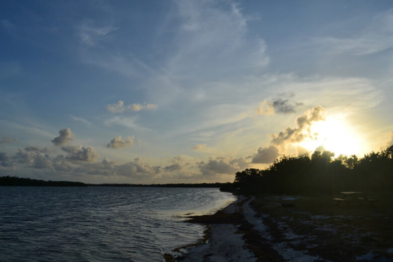 Sunset at Curry Hammock State Park