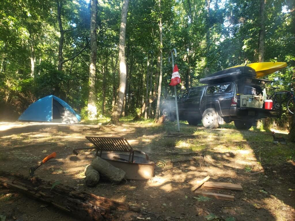 Site #5 at Campfire Lodgings
